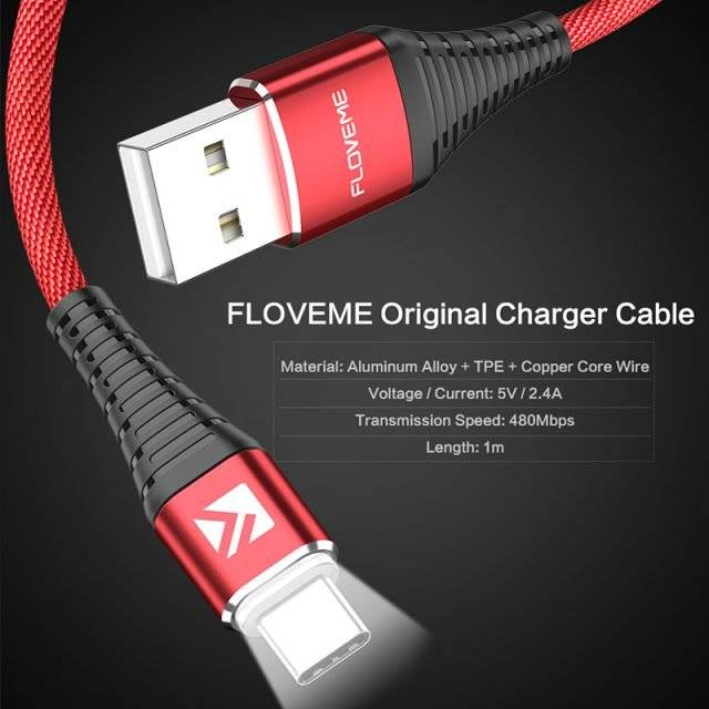 Type-C Charging Cable with LED Indicator