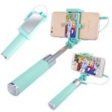 Portable Wired Selfie Stick with Mirror