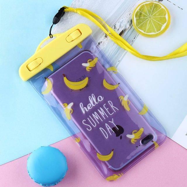 Fruit Printed Waterproof Phone Bag