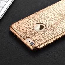 Luxury Crocodile Skin Patterned Protective Silicone Phone Case for iPhone