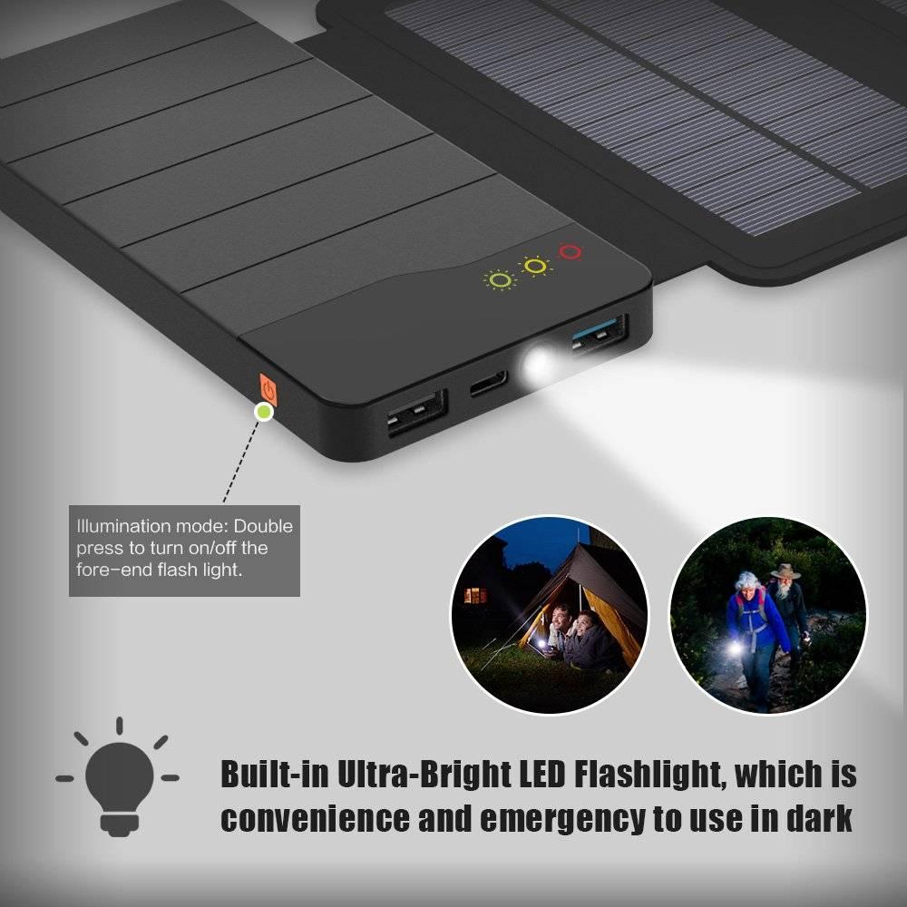 Waterproof Solar Charger Power Bank 10000 mAh
