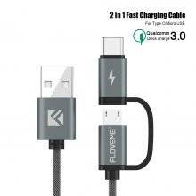 2 in 1 Type-C and Mirco USB Charging Cable