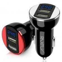 Universal Dual USB LED Light Car Phone Chargers