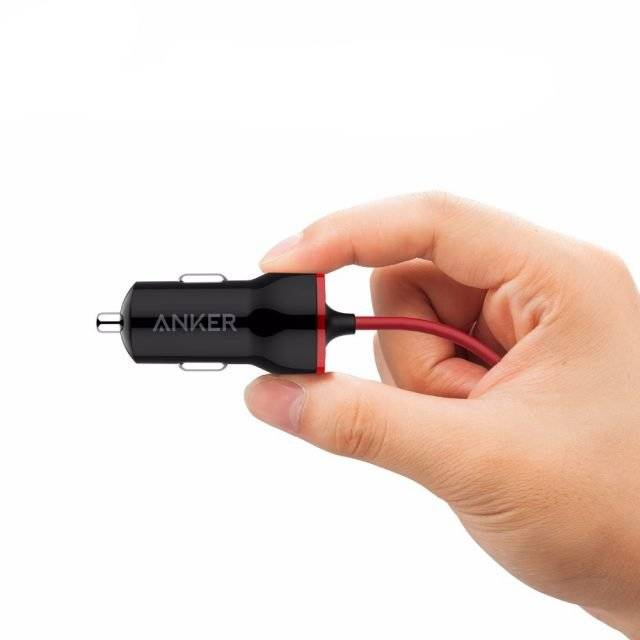 Universal Car Charger with Lightning Cable