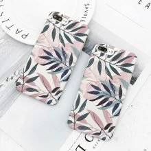 Leaf Patterned Dirt-Resistant Plastic Phone Case for iPhone