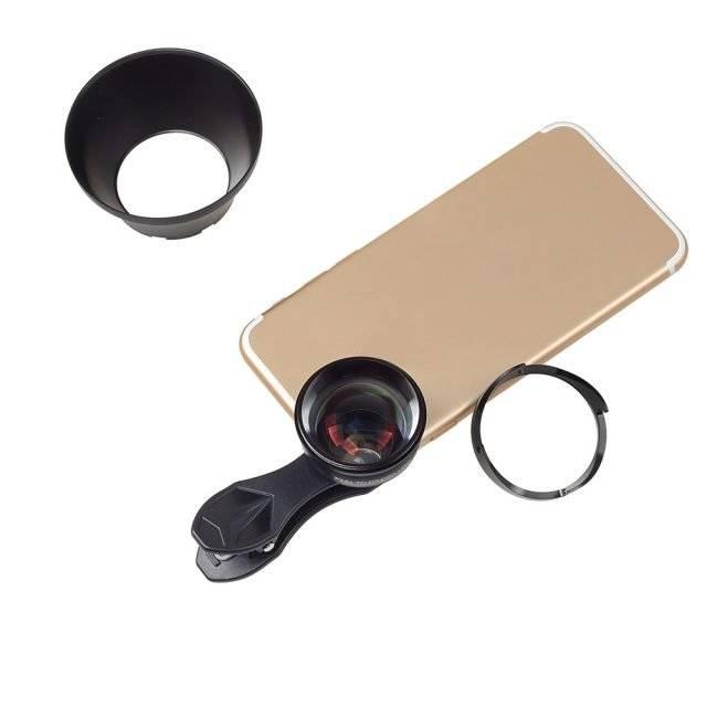 Universal Phone Telephoto Lens with Hood