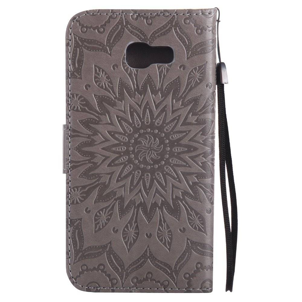 Women's Colorful Leather Phone Cover with Floral Pattern for Samsung
