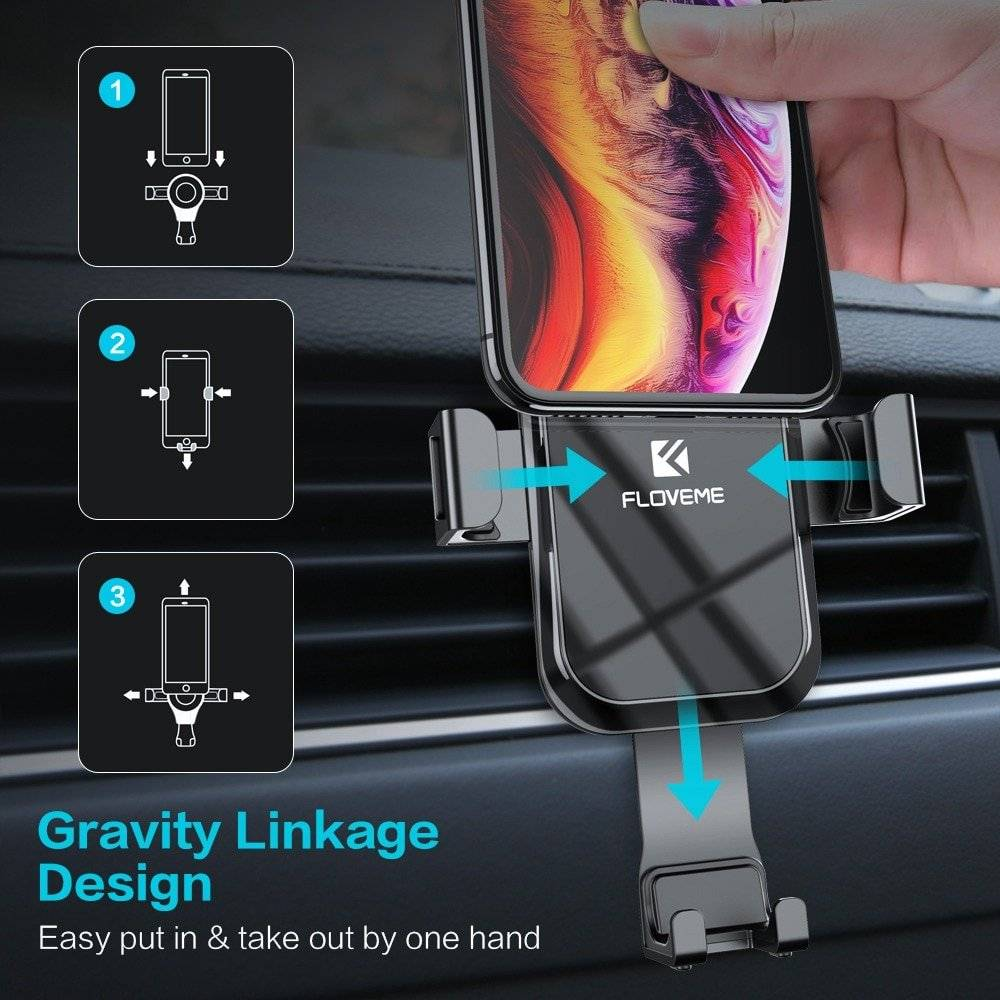 Gravity Linkage Design Car Phone Holder