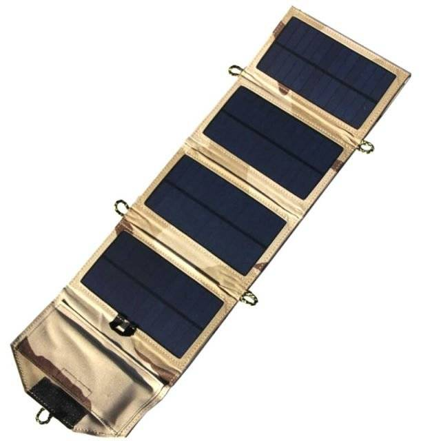 Camo Foldable Solar Charger