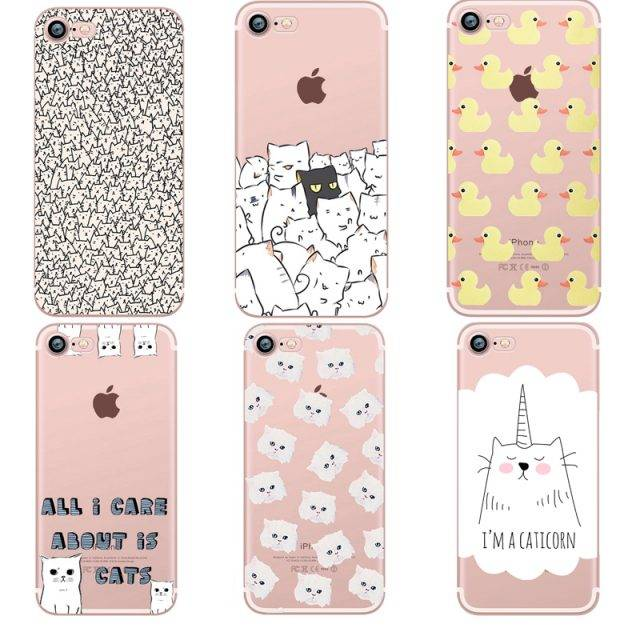 Cute Animals Soft Silicone Cases for iPhone
