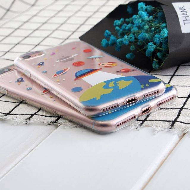 Spaceship and Astronaut Printed Phone Case