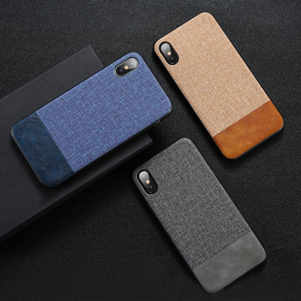 Cloth & Leather Design Phone Case for Huawei