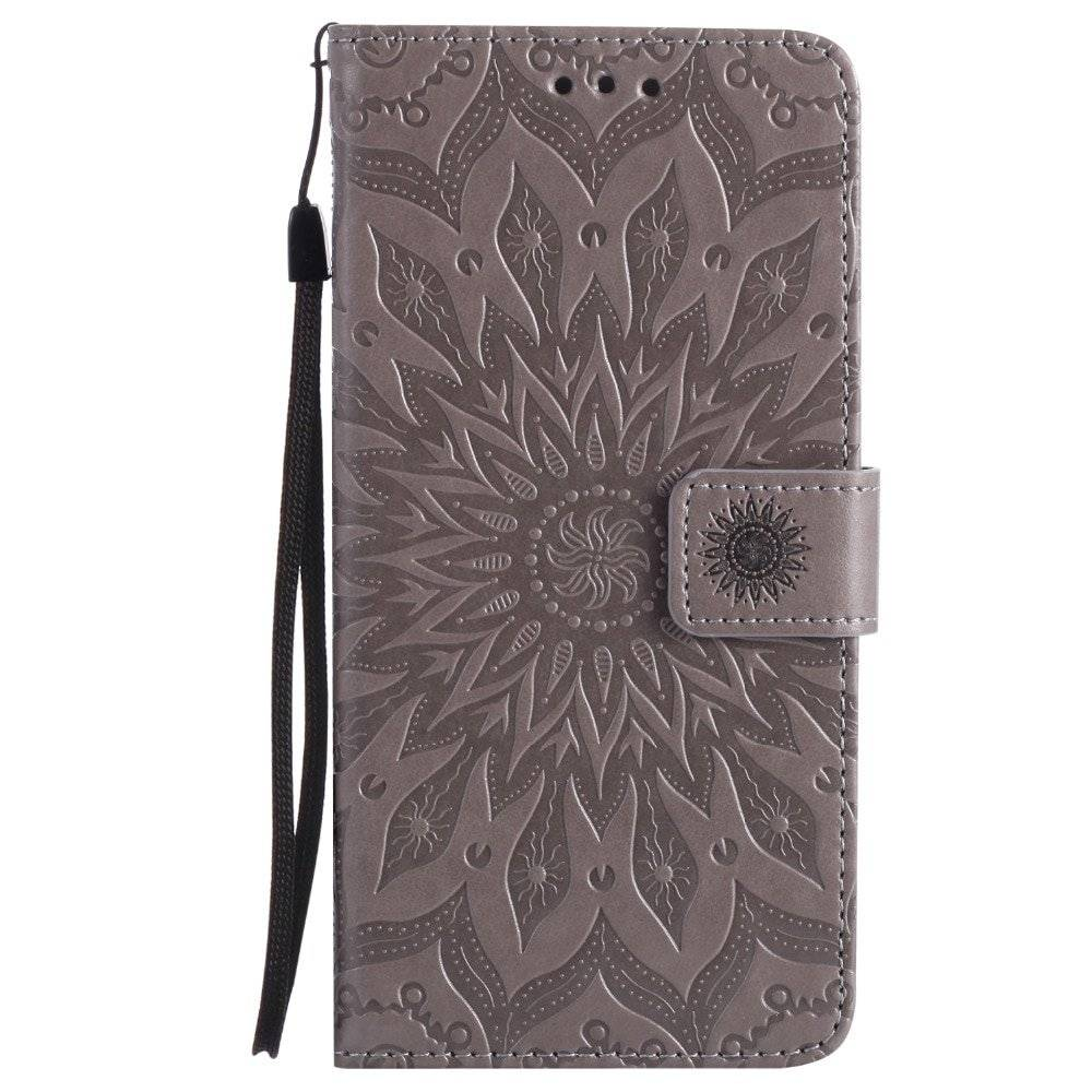 Floral Leather Flip Case for iPhone