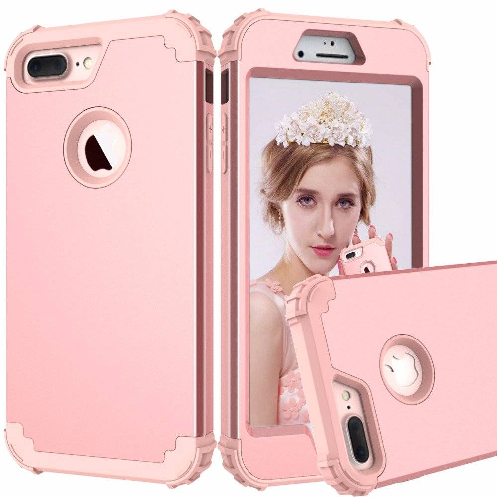 Stylish Shockproof Dirt-Resistant Plastic Phone Case for iPhone