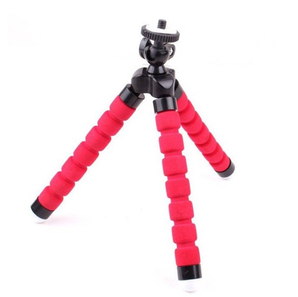 Mini Flexible Tripod for Mobile Phone Color: Red