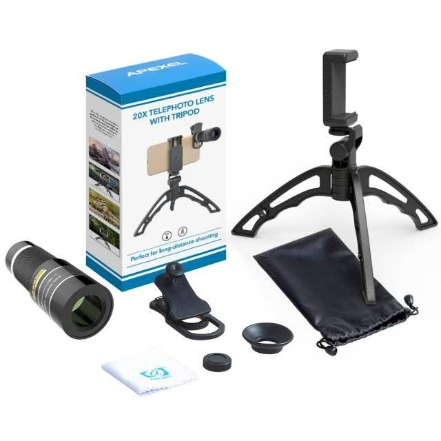 20x Phone Telephoto Lens with Tripod
