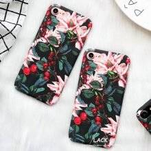 Floral Protective Hard Phone Case for iPhone