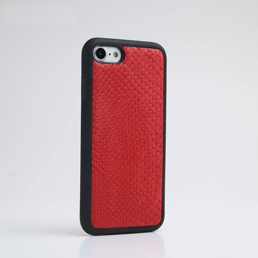 Black Python Leather iPhone Case