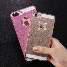 Glittery Slim Case with Rhinestone for iPhone