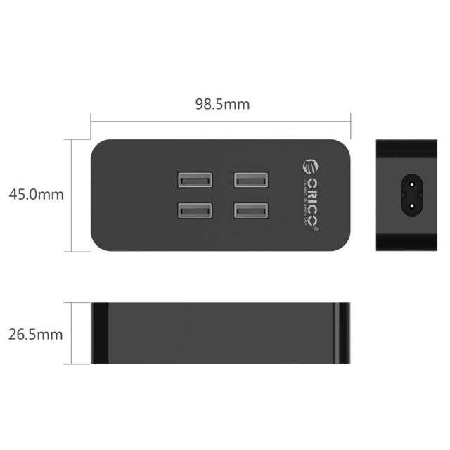 4-Port USB Charger with Long Cable