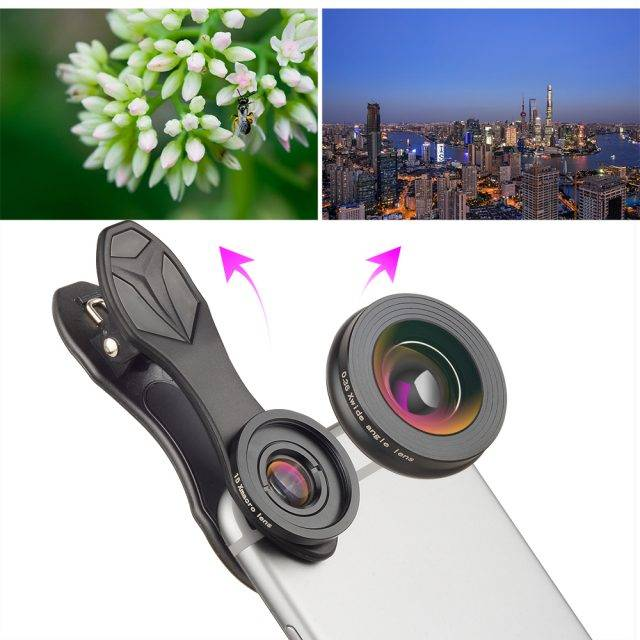 Super Macro Wide-Angle Camera Phone Lenses