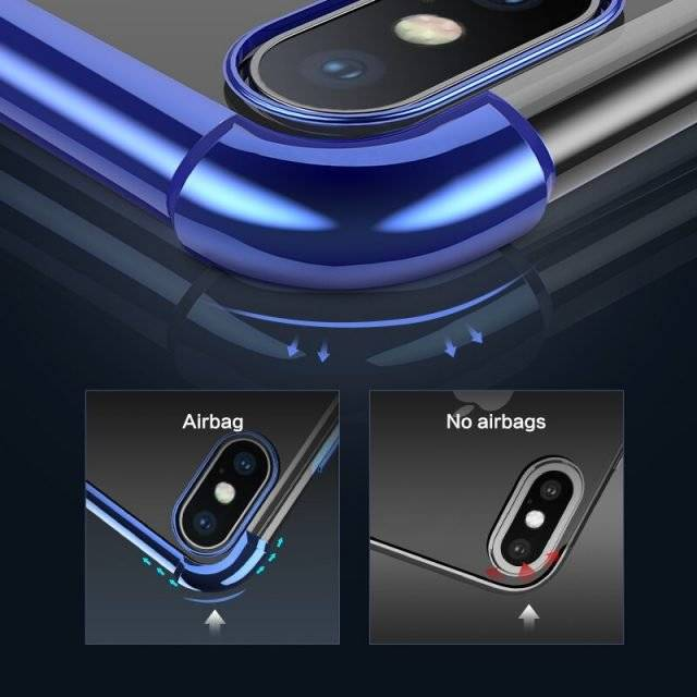 Anti-Knock Plated Edge Design Phone Case For iPhone