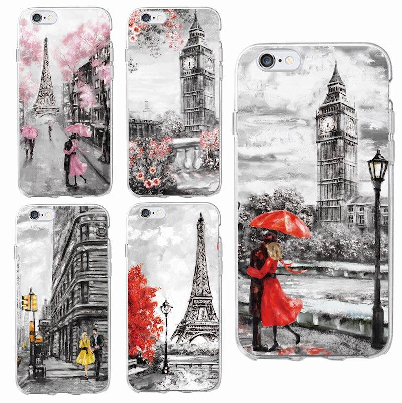 Paris City France Soft Phone Case for iPhone, Samsung
