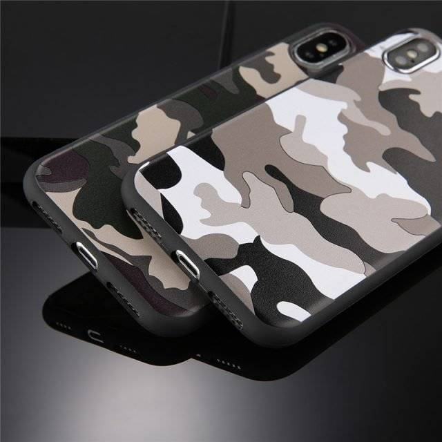 Camouflage Soft Phone Case for iPhone