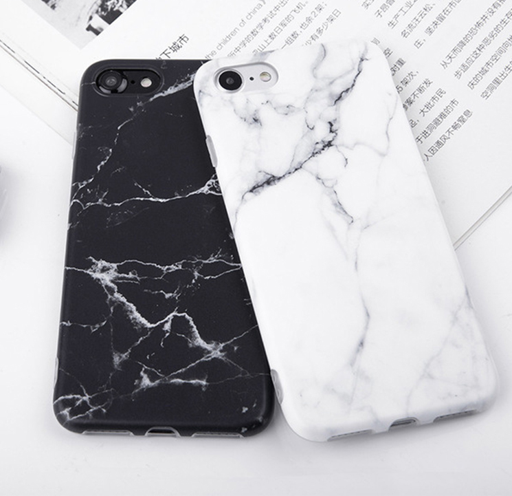Marble Printed Soft Silicone Phone Case for iPhone