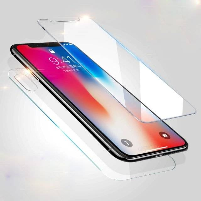 Front and Back Tempered Glass for iPhone