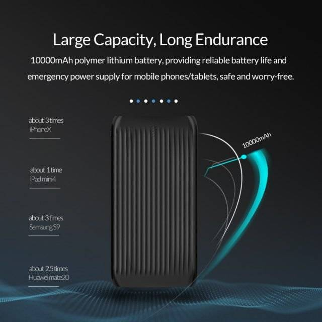 10000 mAh Dual USB Slim Power Bank