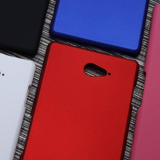 Smooth Rubberized Matte Hard Case For Sony Xperia