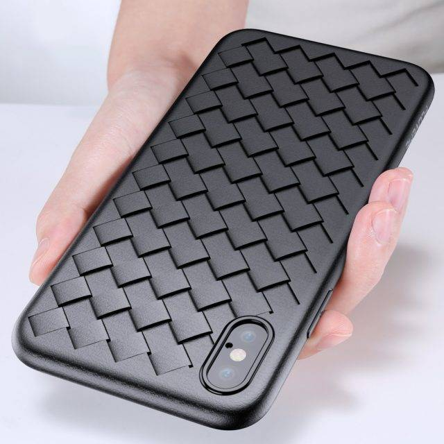 Woven Design Soft Phone Case for iPhone