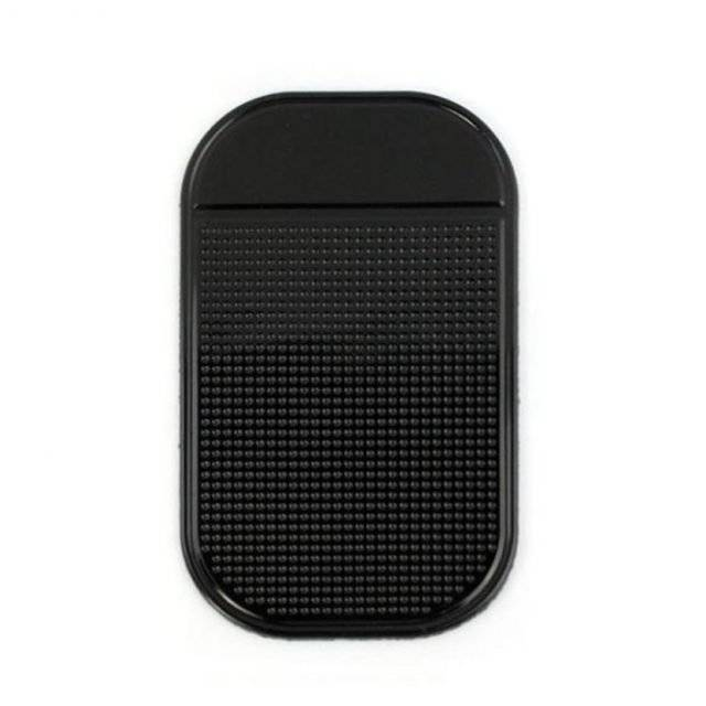 Colorful Anti Slip Car Phone Mat Color : Black