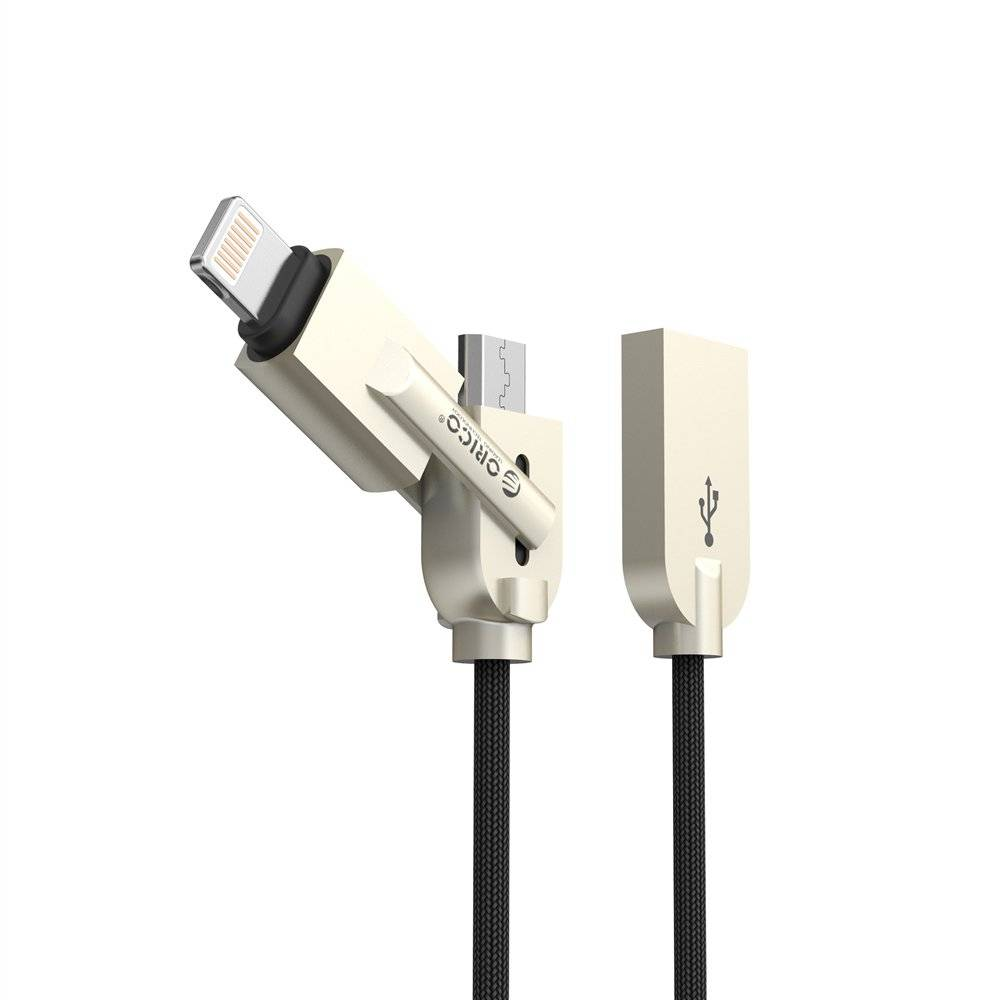 2-in-1 Lightning and Micro USB Charging Cable