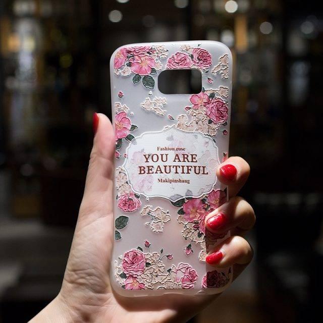 Vintage Floral TPU Phone Cases for Samsung