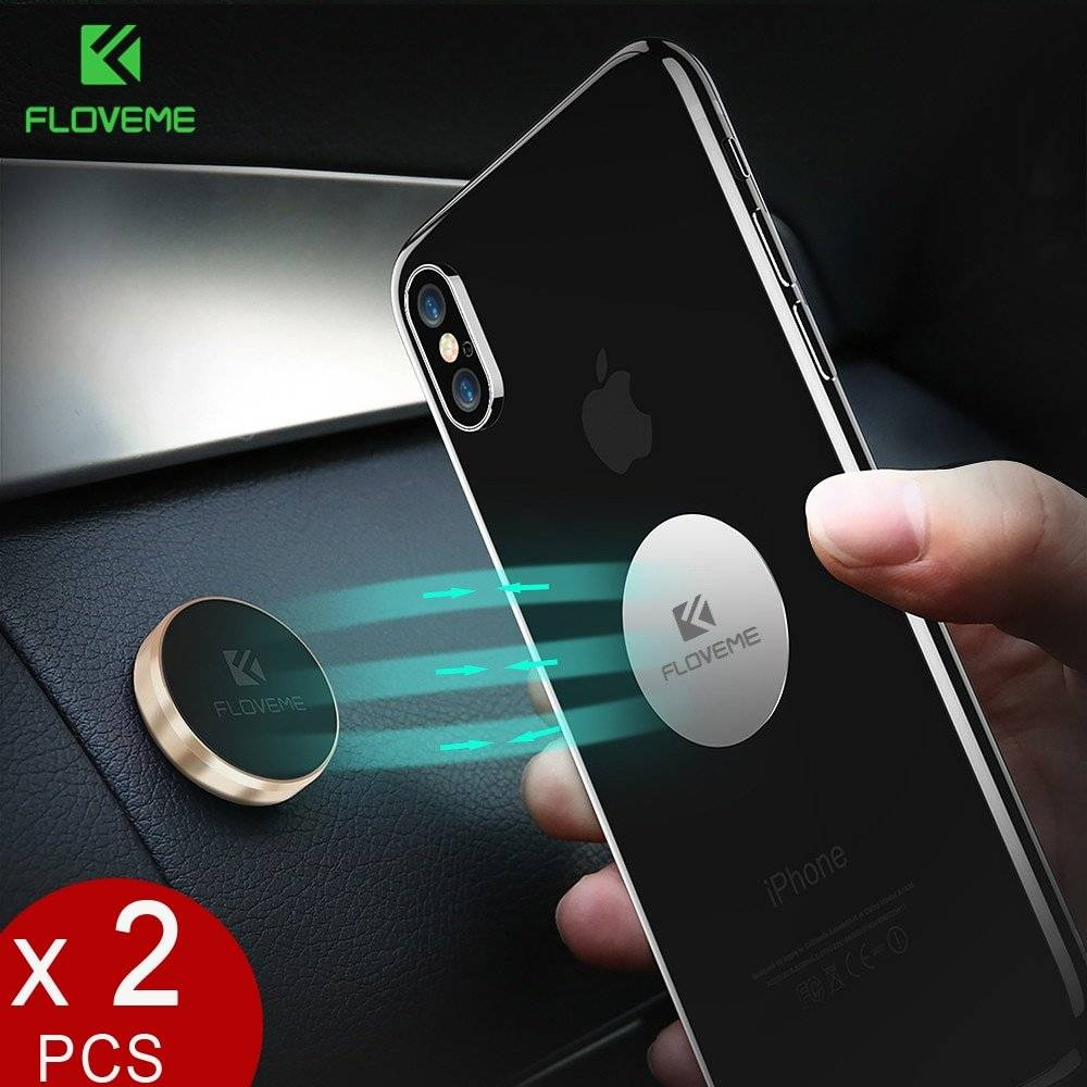 Magnetic Design Car Phone Holder 2 pcs Set