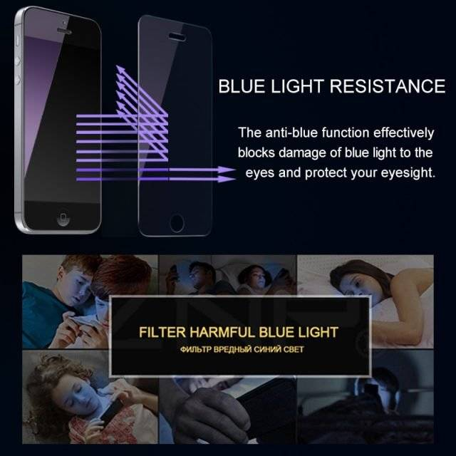 HD Transparent/Anti-Blue Light Screen Protector for iPhone