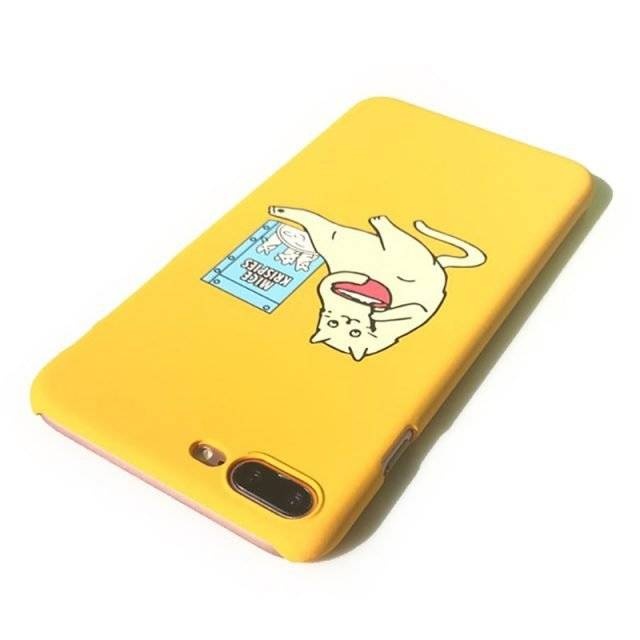 Funny Cartoon Cat Phone Case for iPhone