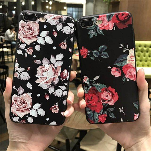 Flower Patterned Silicone Cases for iPhone