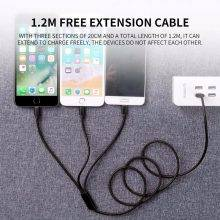 3 in 1 USB Cable for iPhone and Smartphones
