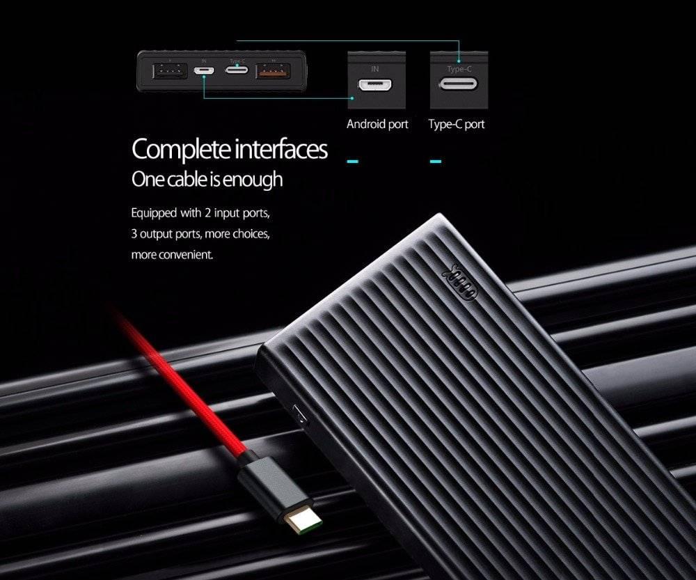 10000-20000 mAh Ultra Slim Quick Charge Powerbank
