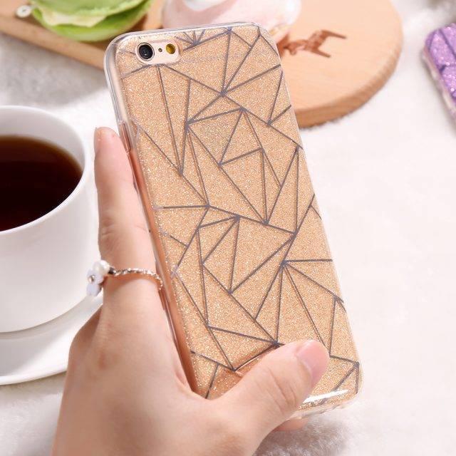Geometric Glittery Phone Cases