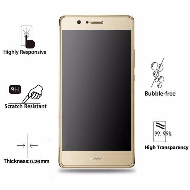 Ultra-thin 0.26 mm Tempered Glass Film for Huawei P9 Lite