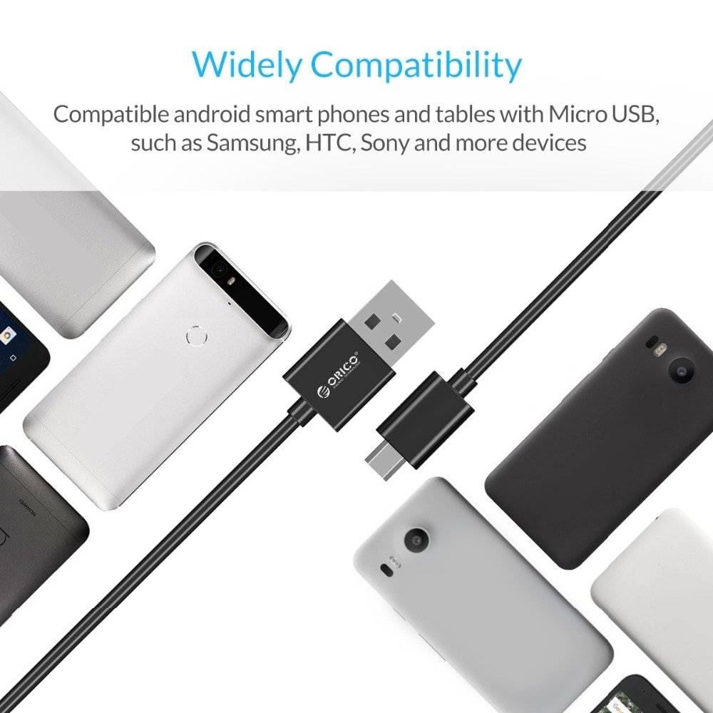 Micro USB 2.0 Charging Cable 5 pcs Set