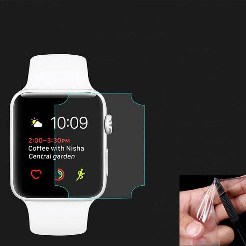 Set of 2 TPU Screen Protectors for Apple Watch