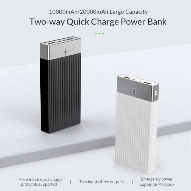 10000-20000 mAh Type C Quck Charge Powerbank