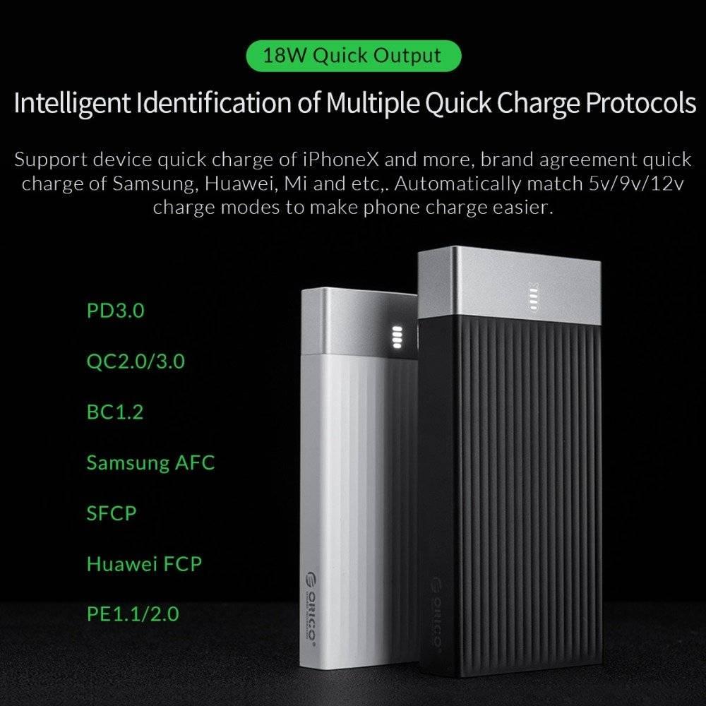 10000-20000 mAh Type C Quck Charge Powerbank
