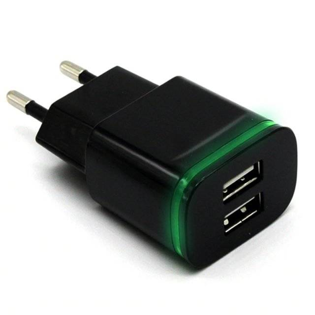 Universal Charger for Smartphones with Two USB Ports
