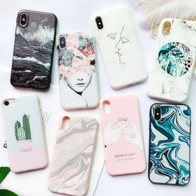 Soft Patterned Phone Case for iPhone